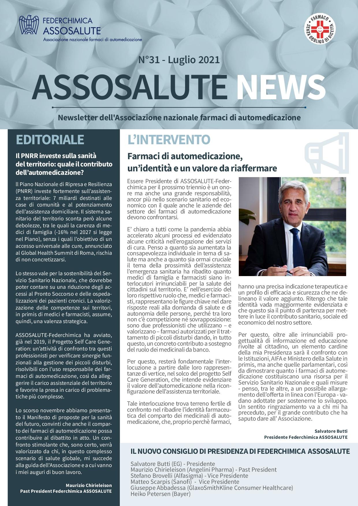 Newsletter Assosalute - Luglio 2021