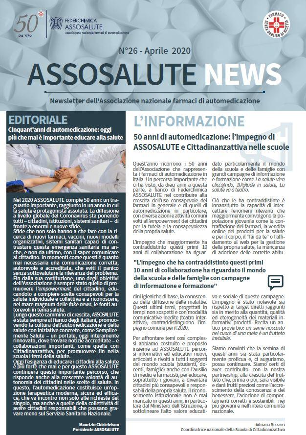Newsletter ASSOSALUTE - Aprile 2020