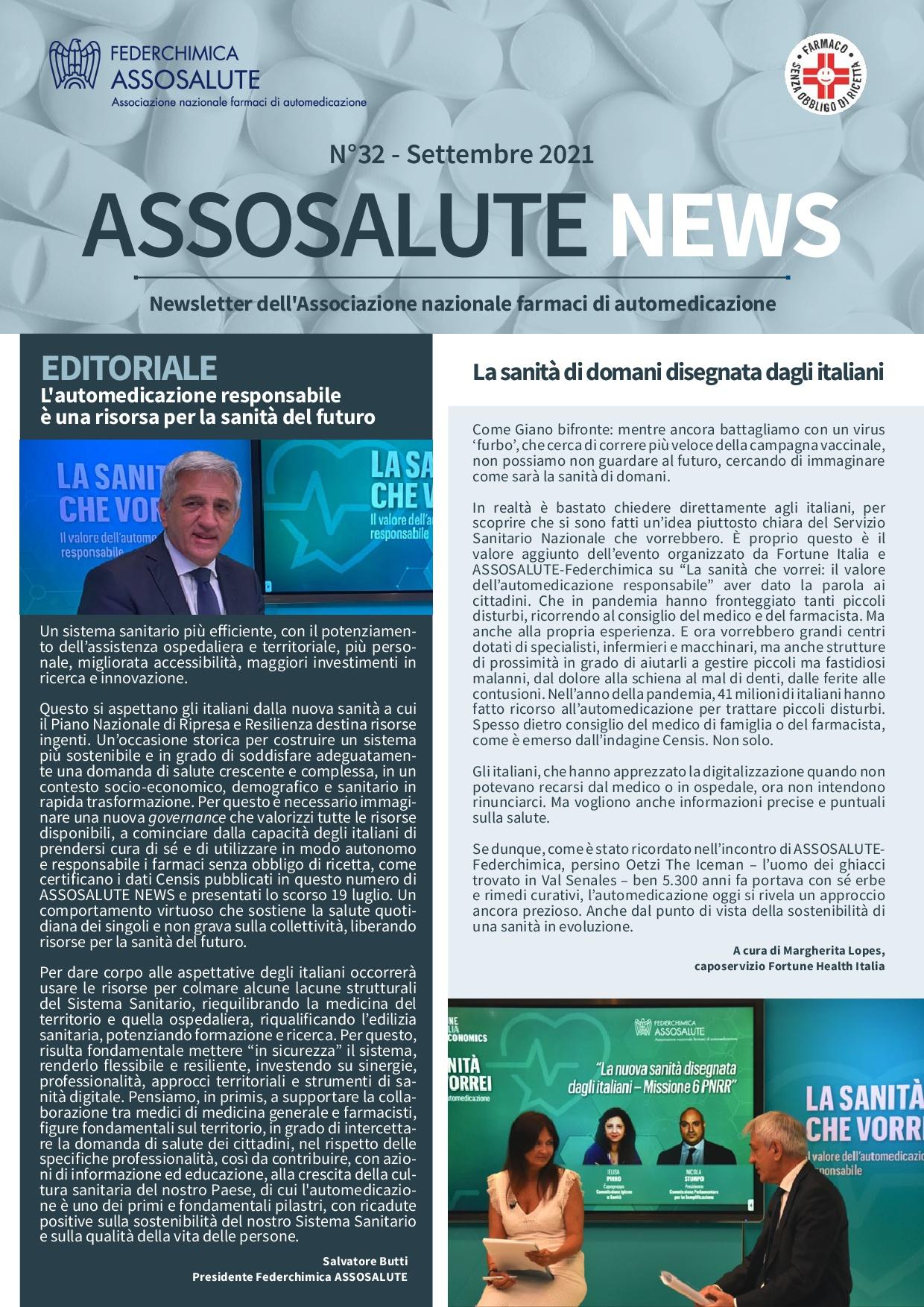 Newsletter Assosalute - Settembre 2021