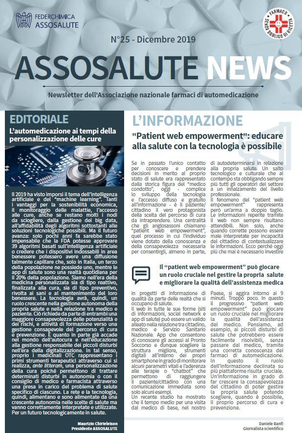 Newsletter ASSOSALUTE - Dicembre 2019