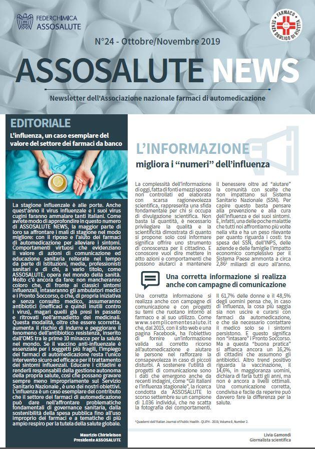 Newsletter Assosalute - Ottobre-Novembre 2019